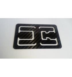 Flat carbon fiber money clip & card holder