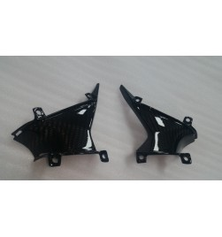 Honda CBR600RR 07-12 small middle side fairing infill panel in 100% carbon Gloss